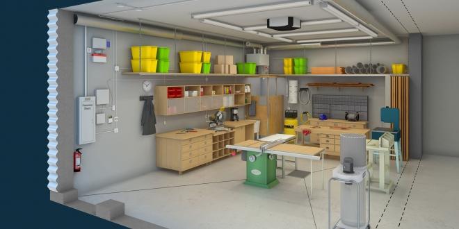 on vous aide am nager votre atelier de bricolage toulouse les artisans 42 conseils. Black Bedroom Furniture Sets. Home Design Ideas